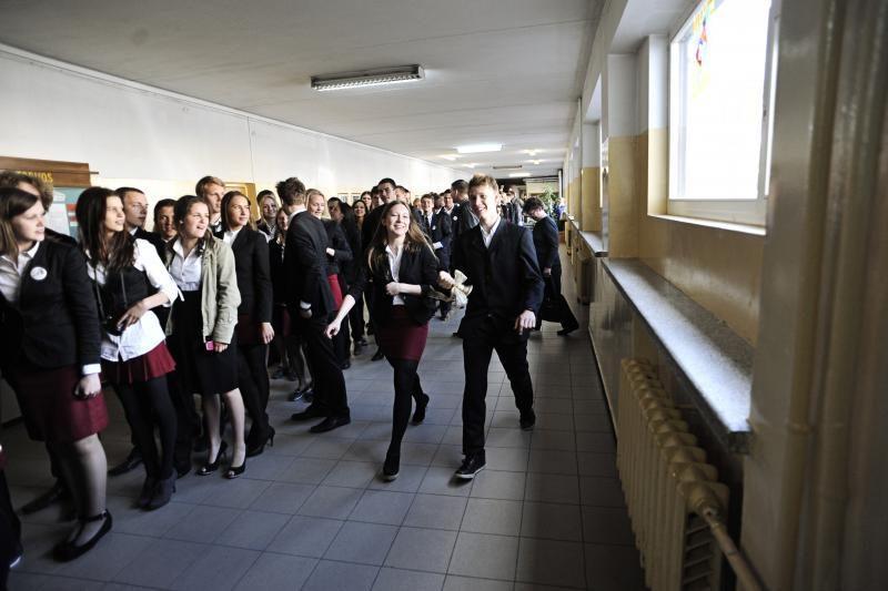 Po renovacijos J.Jablonskio gimnazijos mokiniai nebešals