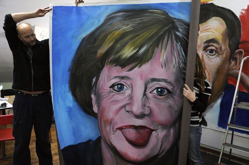 A.Merkel vėliavos spalvų vėrinys jau turi savo paskyrą