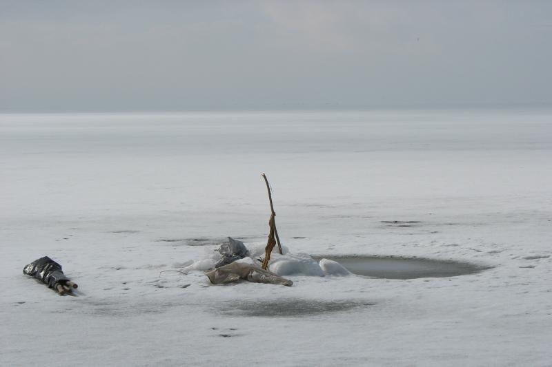 Pūga paklaidino ant marių ledo žvejojusį klaipėdietį