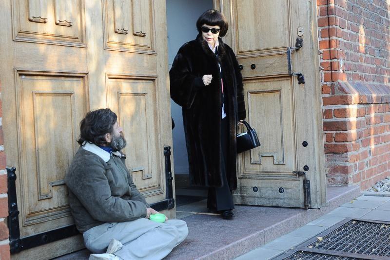 Prancūzų žvaigždė M.Mathieu Kaune sušelpė vargetą