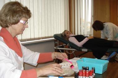 Savivaldybės darbuotojai tapo kraujo donorais