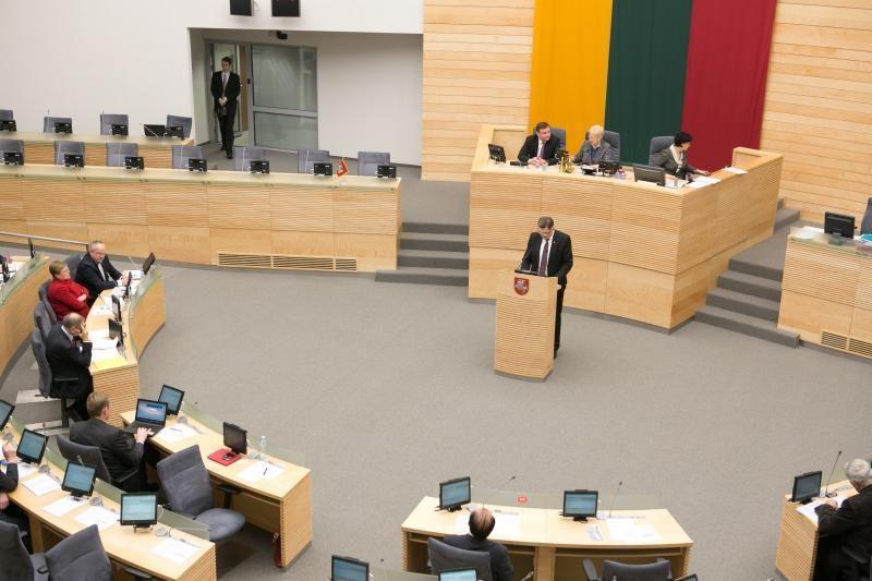 Per pavasario sesiją Seimas priėmė kelis šimtus įstatymų