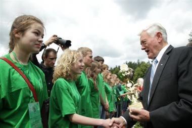 Prezidentas pasveikino Lietuvos mokinių olimpinio festivalio dalyvius