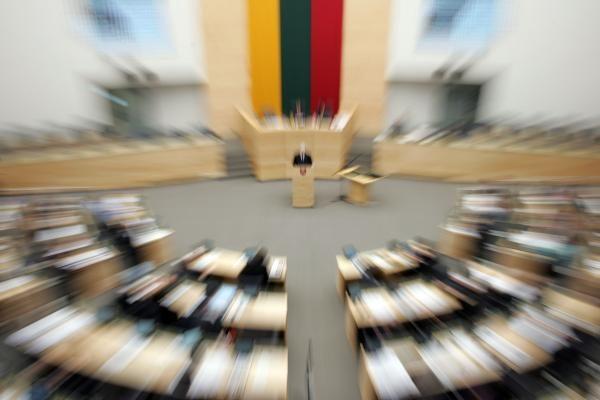 Seimas 100 tūkst. litų mažina išlaidas komandiruotėms