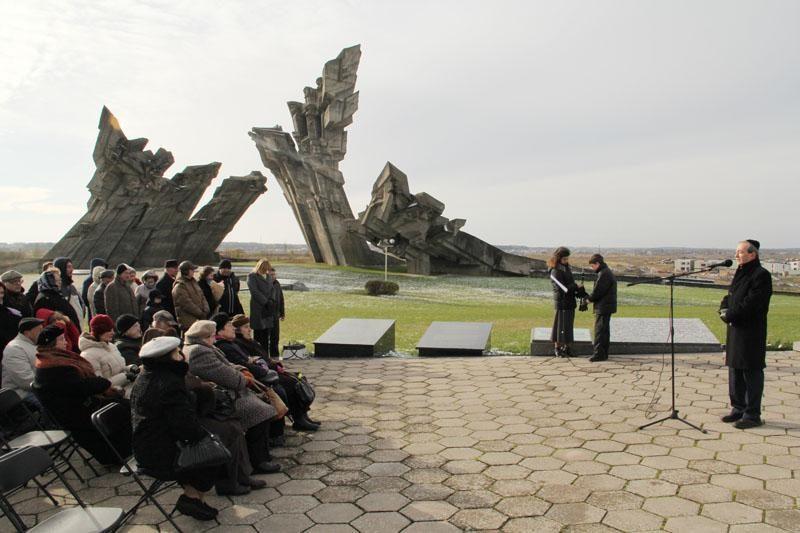Kaune paminėtos kraupių žydų žudynių metinės