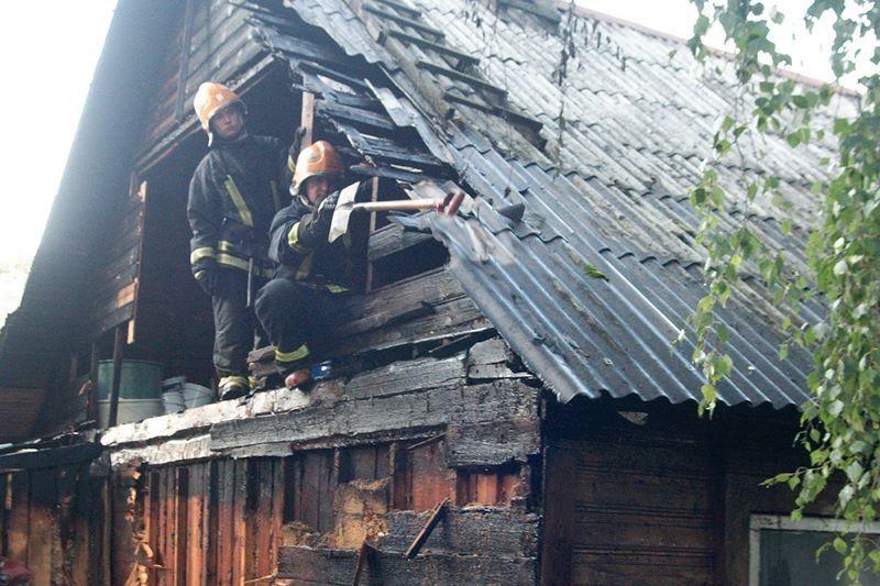 Žvėryne degė dar vienas medinis namas