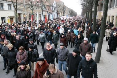Mitingas Klaipėdoje vyko taikiai (video)