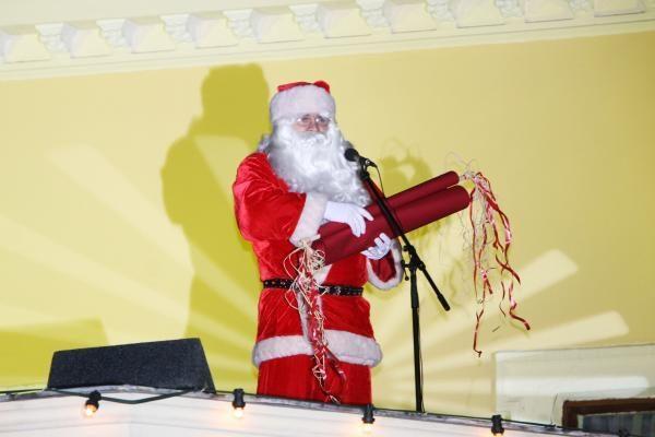 Įžiebta Kalėdų eglė