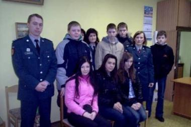 Pagausėjo jaunųjų policijos rėmėjų gretos