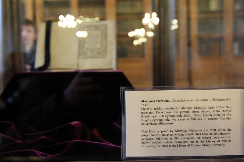 """VU bibliotekoje eksponuojamas M.Mažvydo """"Katekizmas"""""""