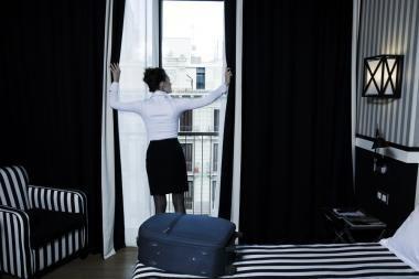 Klientai iš viešbučių vagia net užuolaidas