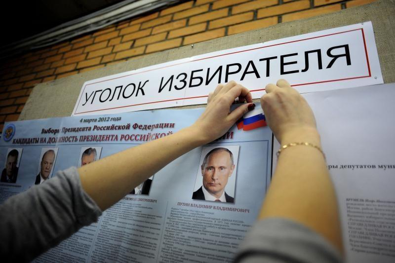 Rusijoje vyksta šalies prezidento rinkimai (papildyta 09:49 val.)