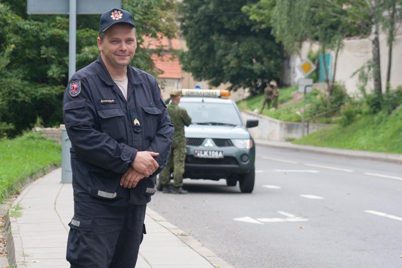 Iš Vilniaus senamiesčio išvežtas pavojingas sprogmuo
