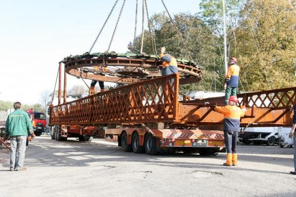 Pasukamasis tiltelis išvežtas remontui