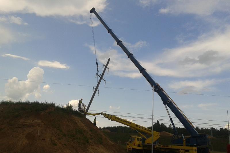 Vilniaus aplinkkelio statybas greitina elektros linijų iškėlimas