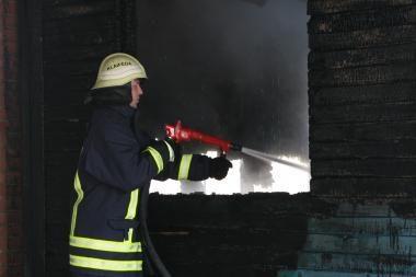 Kretingos r. sudegė daržinė