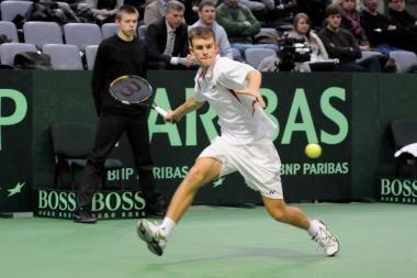 L.Grigelis poroje su britu - ITF turnyro Italijoje finale