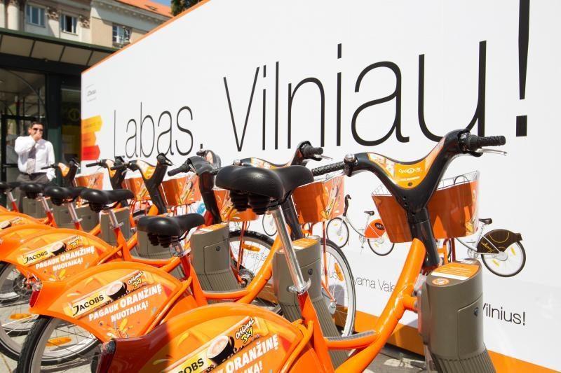 Dviračiai Vilniuje per parą išsinuomojami per pusantro tūkstančio kartų