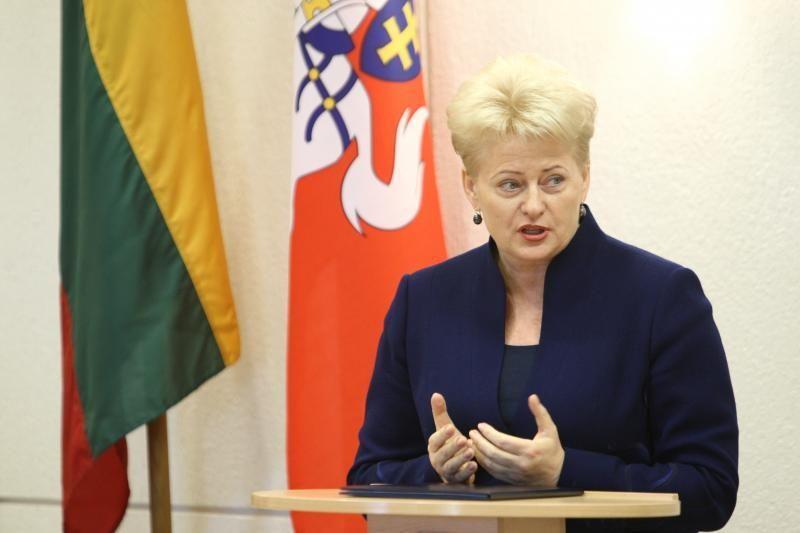 Prezidentė: finansinės drausmės sutartį Lietuva vykdo jau seniai