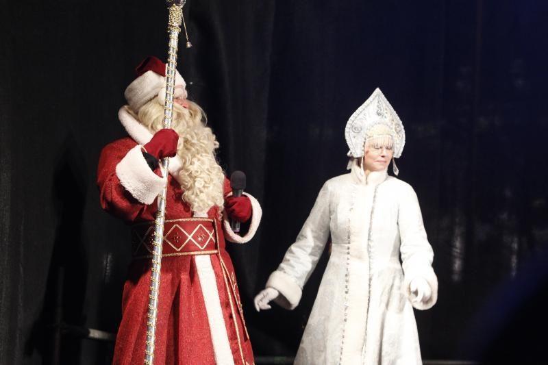Prie Katedros triukšmingai švenčiamos stačiatikių Kalėdos