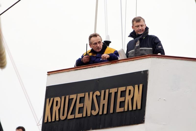 """Klaipėda sulaukė burlaivio """"Kruzenštern"""""""