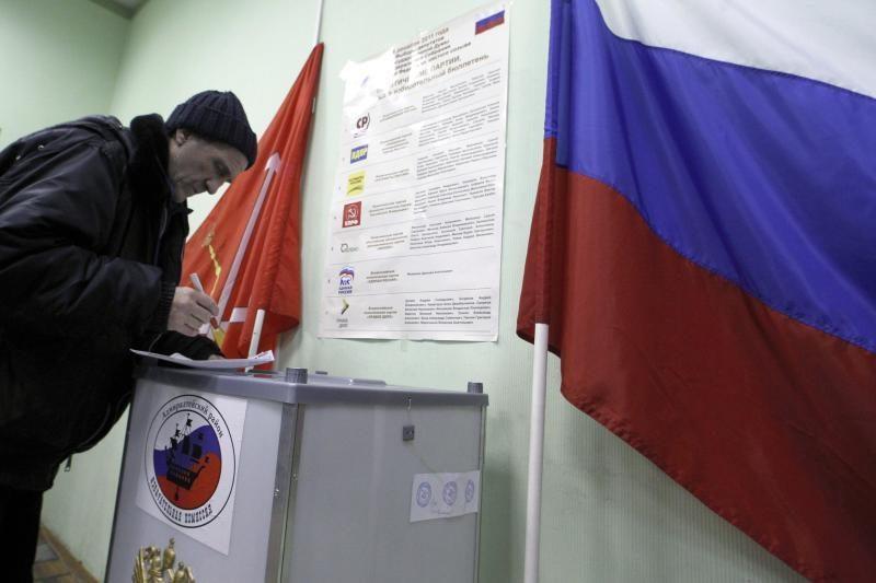 Rusijos rinkėjų aktyvumas parlamento rinkimuose buvo 60,2 proc.