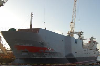 """VLR baigė laivo """"Thorshovdi"""" modernizaciją"""