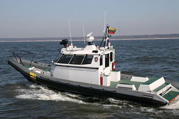 Pramogautojai katamaranu pažeidė Lietuvos ir Rusijos sieną