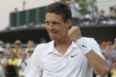 Vimbldono teniso turnyro šešioliktfinalyje - favoritų pergalės