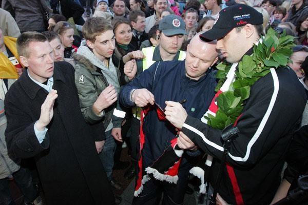 """""""Lietuvos ryto"""" pagerbimas – V. Kudirkos aikštėje (papildyta)"""