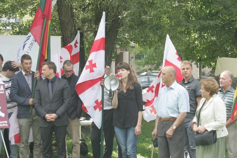 Konservatoriai prie Rusijos ambasados reiškė paramą Gruzijai