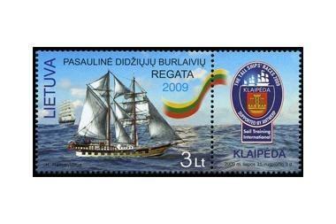 Didžiųjų burlaivių regatai - pašto ženklas