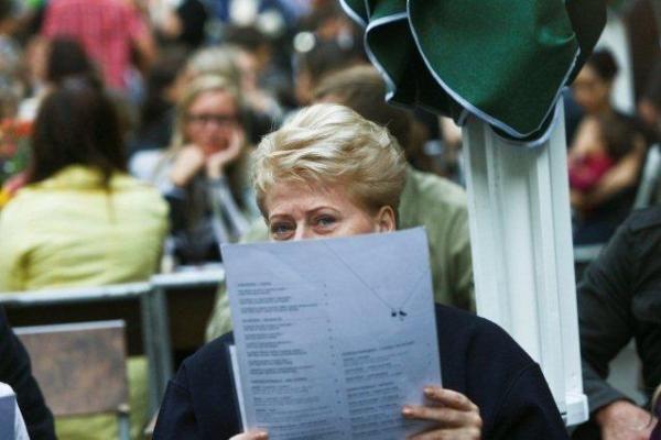Jurgos Šeduikytės atvyko pasiklausyti ir D.Grybauskaitė