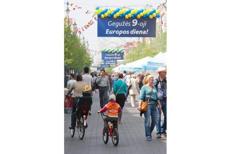Europos dienai skirtuose renginiuose – žaidimai, muzika, patiekalai