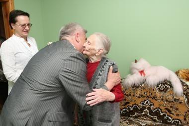 Pasveikinta 101 metų sulaukusi klaipėdietė