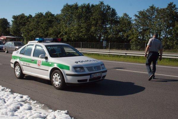 Greitkelyje Vilnius–Kaunas degė kranas