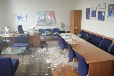 URM per užsienio diplomatų susitikimą nukrito lubos