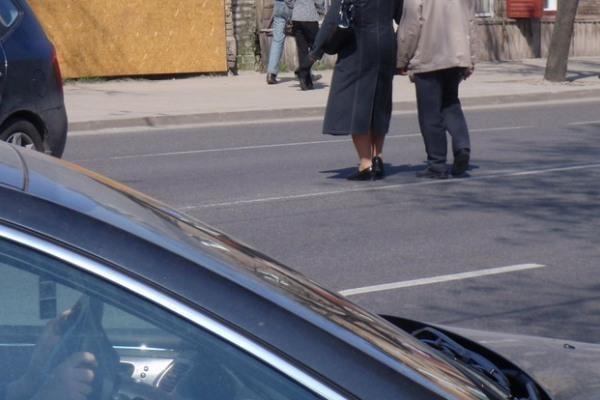 Pėstieji Vilniuje linkę pažeisti eismo taisykles