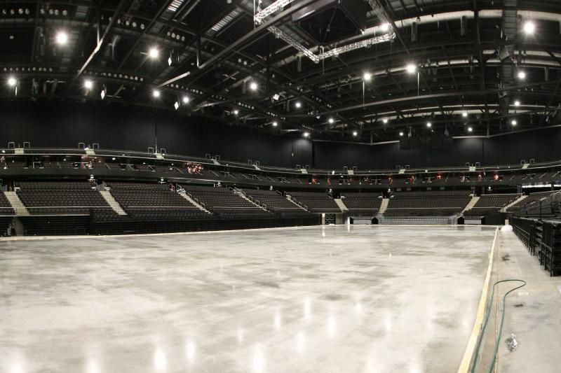 """""""Žalgirio"""" arena per naktį virto ledo rūmais"""