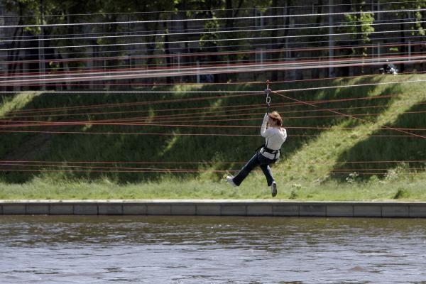 Ekstremalus sportas Vilniaus centre? Kodėl gi ne?