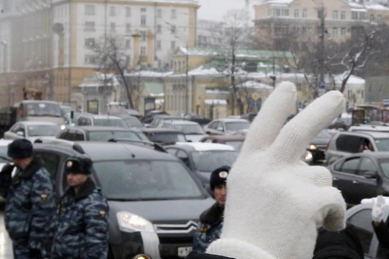 Prieš V.Putiną – tūkstantinis protestas Maskvoje