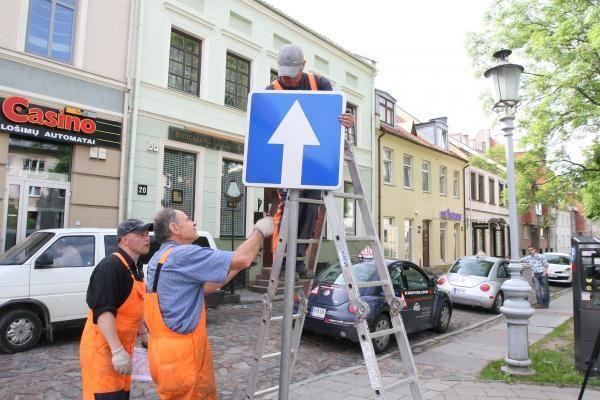 Pokyčiai senamiestyje: eismas Tiltų gatve jau draudžiamas