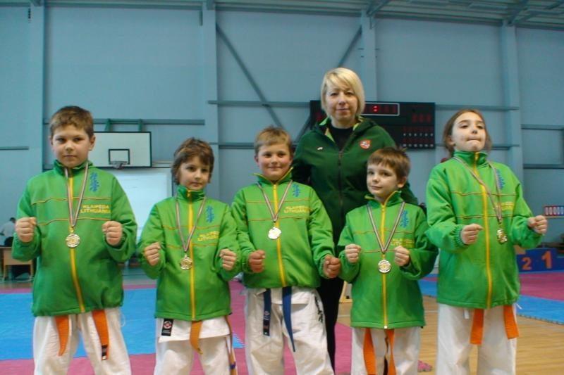 Klaipėdos vaikų pergalės Latvijoje, karatė čempionate