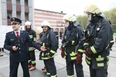 Klaipėdos ugniagesių pamokos pradinukams