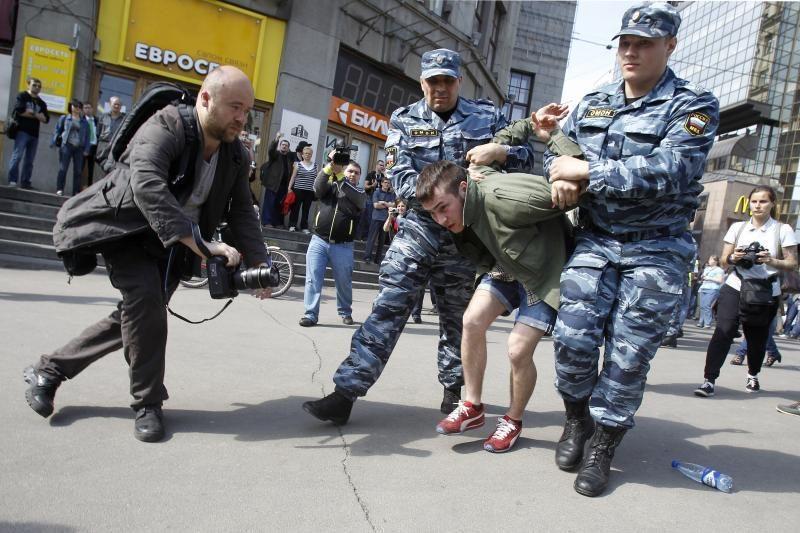 Maskvos policija per V.Putino inauguraciją sulaikė 120 žmonių