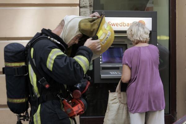 "Vilniuje degė ""Swedbank"" (papildyta)"
