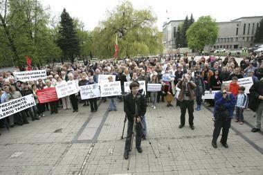 Nuolatine protesto akcijų vieta Kaune siūloma paskelbti Vienybės aikštę