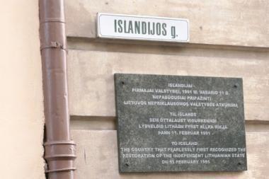 Vilniuje atidengta atminimo lenta Islandijai