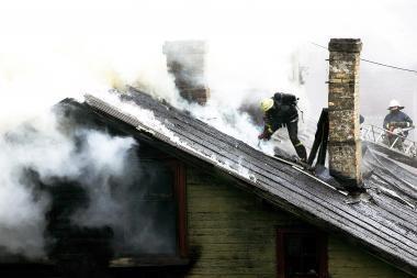 Kupiškyje, kaip įtariama, nepilnametis sukėlė gaisrą