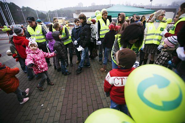 Šeimos Vilniuje rinkosi į šiukšlių rūšiavimo varžybas